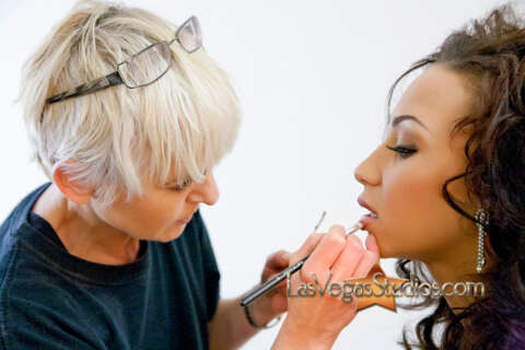 Makeup Artist Christine Copeland at work